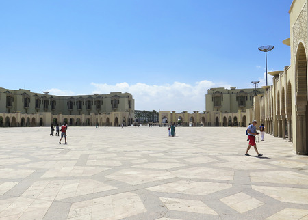 afrique du nord: Esplanade de la Mosqu�e Hassan II, le Maroc, l'Afrique du Nord