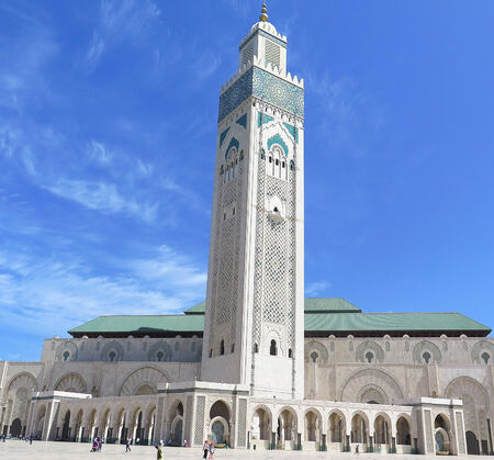 Hassan II Mosque, Morocco, North Africa                        Stock Photo