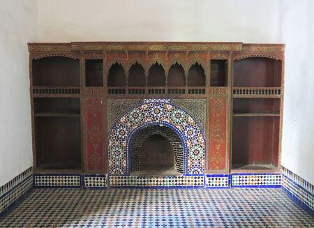 afrique du nord: Chemin�e d'un palais au Maroc, en Afrique du Nord Editeur