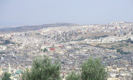 Overview of Fez, Morocco, North Africa                              Stock Photo