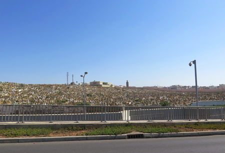 corpses: Cemetery in Rabat, Morocco, North Africa