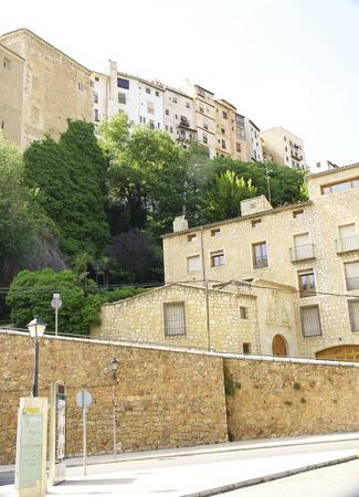 cuenca: hanging houses, Cuenca, Spain, Stock Photo
