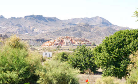 urbanization: Landscape with urbanization in Almeria Stock Photo
