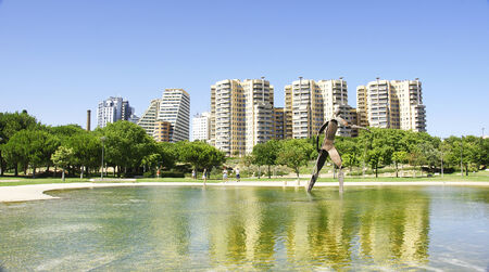 source of iron: Gardens of city ​​of arts and sciences, Valencia