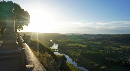 Dordogne river, France Фото со стока