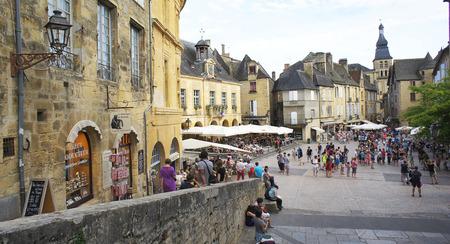 Market in Sarlat Caneda, France