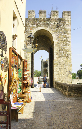 mediaeval: Castle and town of Besalu, Girona, Catalonia, Spain