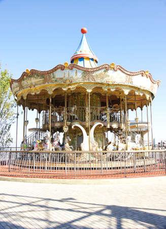 tibidabo: Carousel at Tibidabo, Barcelona Stock Photo