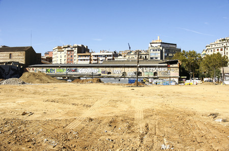 deconstruction: Deconstruction of the ring road in Les Glories Catalanes, Barcelona