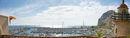 garraf: Panoramic of port of El Garraf in Barcelona