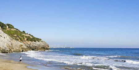 garraf: View of the beach of El Garraf in Barcelona