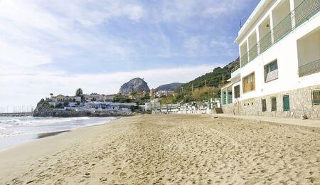 garraf: View of the beach of El Garraf Barcelona