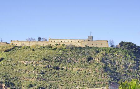 montjuic: Castle on Montjuic mountain Barcelona Editorial