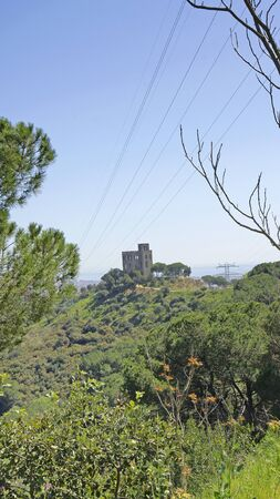 rehabilitated: Panoramic of Castle Torre Bar in Barcelona