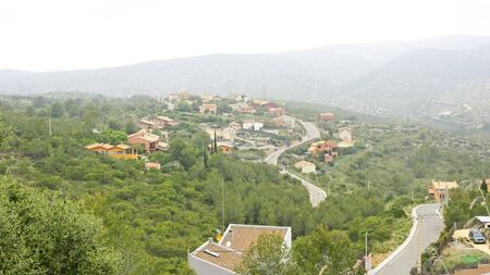 garraf: Natural Park of El Garraf with urbanization, Barcelona