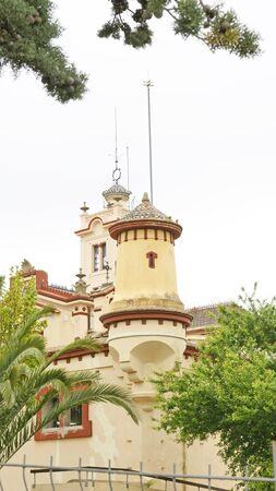 garraf: Buddhist monastery in El Garraf, Barcelona Stock Photo