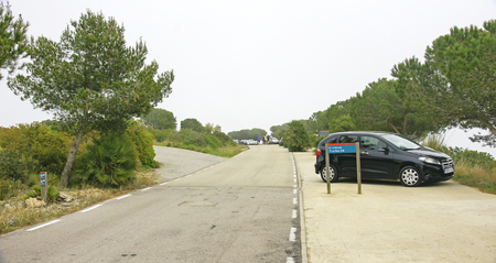 garraf: Road in the natural park of El Garraf, Barcelona
