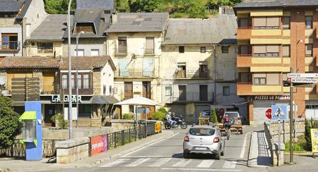 catalunya: Overview of Sort, Lleida, Catalunya, Spain