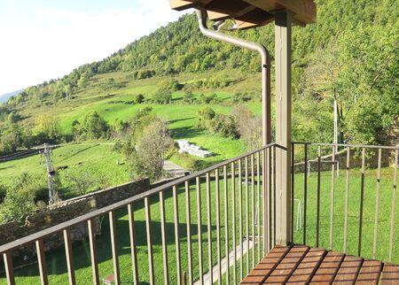 catalunya: View from a terrace, Castellar de Nuch, Catalunya, Spain