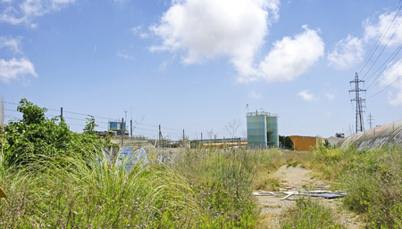 industrial wasteland: Landscape of an industrial zone in Barcelona