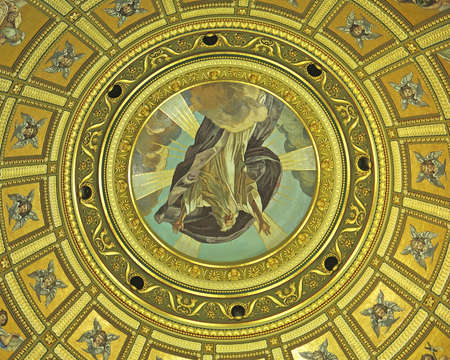 Interior of the dome of a church for funds