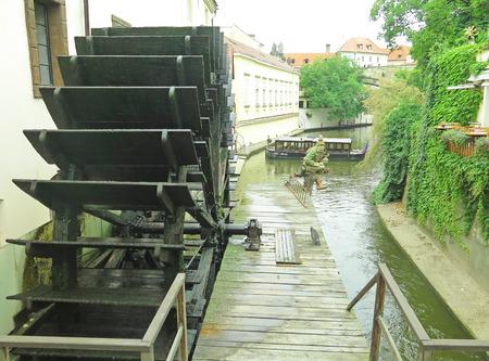 watermill: Watermill in Prague, Czechoslovakia