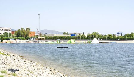 pulleys: Olympic Channel of Castelldefels, Barcelona