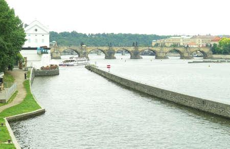 vltava: Vltava River in Prague, Czechoslovakia