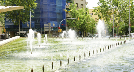 Ornamental fountain in Nou Barris, Barcelona Stock Photo