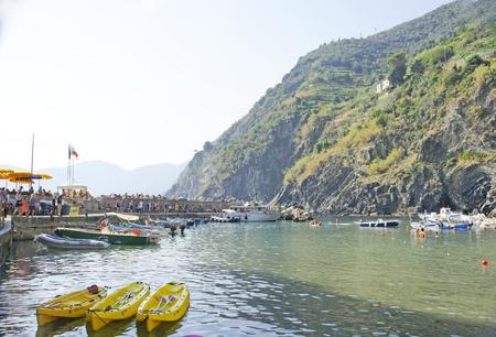 View of Vernazza, La Spezia, Ligurian Sea, Italy