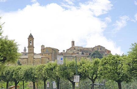montepulciano: Overview of Montepulciano, Siena, Tuscany, Italy Stock Photo