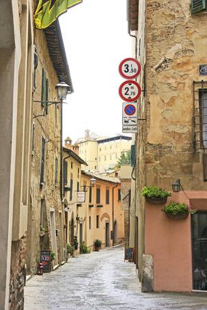 Street of Montepulciano, Siena, Tuscany, Italy Editorial