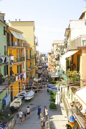 View of Riomaggiore, Cinque Terre, La Spezia, Ligurian Sea, Italy