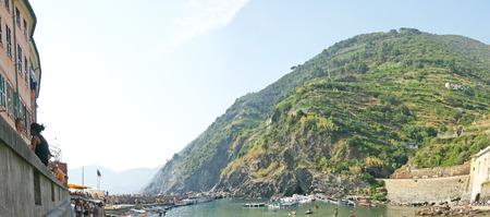 View of Vernazza, La Spezia, Luguria Sea, Italy