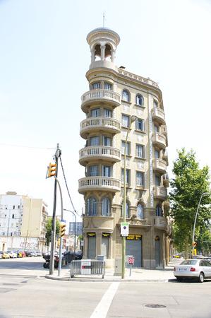 Old building remodeled in Barcelona