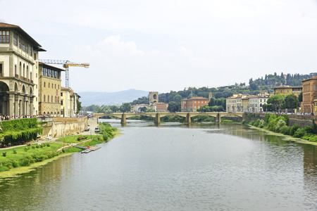 Arno River passing through Florence, Italy Stock Photo