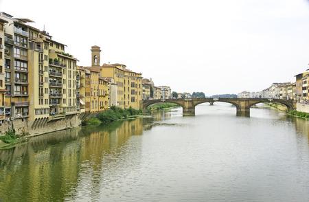 arno: Arno River passing through Florence, Italy Stock Photo