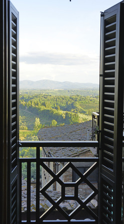 View from a balcony of Tuscany, Italy