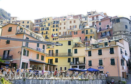 View of Manarola, Cinque Terre, Italy Editorial