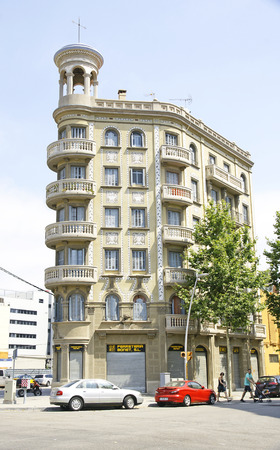 Old apartment block remodeled, Barcelona