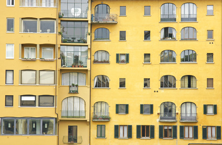 yellov: Facade of building in Florence, Italy, Europe