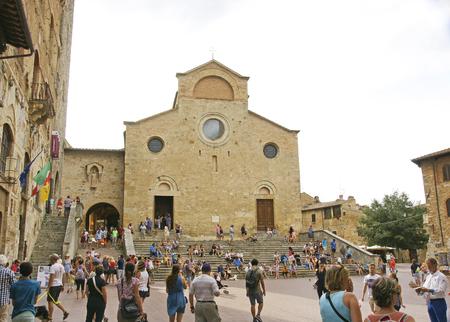 Plaza de San Gimignano, Tuscany, Italy, Europe Editorial