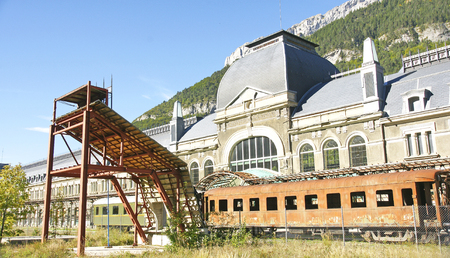 old station of Canfranc, Huesca, Spain Editorial