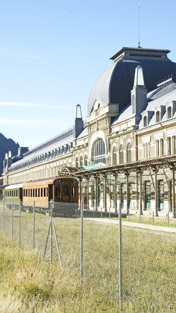 old station of Canfranc, Huesca, Spain Stock Photo