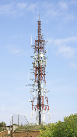 Telecommunications antenna in Montjuic, Barcelona