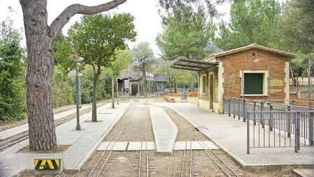 Infrastructures of the childrens train of the park of the Oreneta, Barcelona