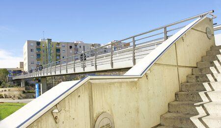Bridge of El Moli Nou, Sant Boi de Llobregat, Barcelona, Catalunya, Spain