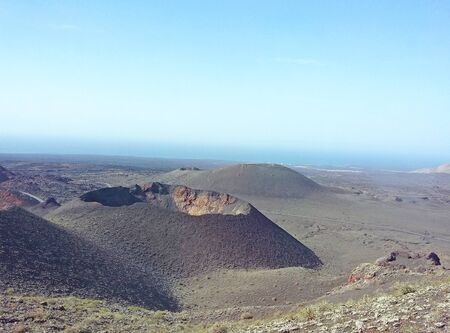 Volcanic landscape in Lanzarote, Canary Islands, Spain