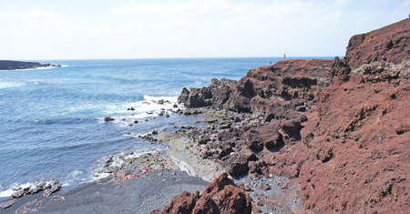 Beach in Lanzarote, Canary Islands, Spain Stock Photo