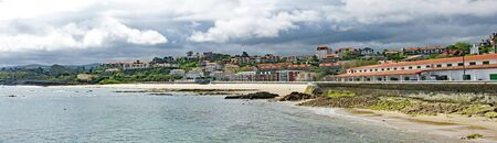 View of the beach of Comillas, Santander, Cantabria, Spain